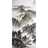 【已售】国家画院刘金河四尺山水《溪山清幽》
