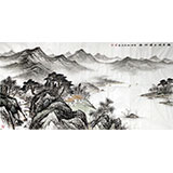 【已售】国家画院刘金河四尺《潮平风正远帆轻》