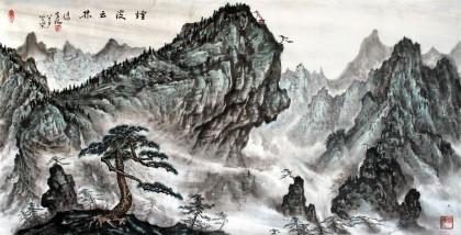 名家蒲家瑞四尺国画《烟波云林》