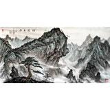 蒲家瑞 四尺国画《烟波云林》 86岁著名老画家