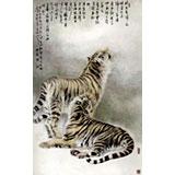 名家孔祥前六尺精品虎画(询价)