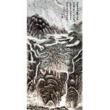 老庄四尺精品工笔山水画《香积寺》