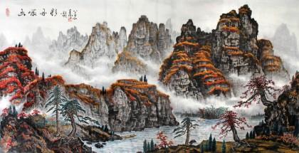 秋景马克笔手绘