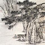 【已售】国家画院刘金河四尺斗方古韵山水画