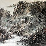 【已售】龙瑞工作室画家宁全喜北方山水