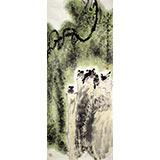 王宝钦 四尺参展作品《清凉世界》当代花鸟牡丹画名家(询价)
