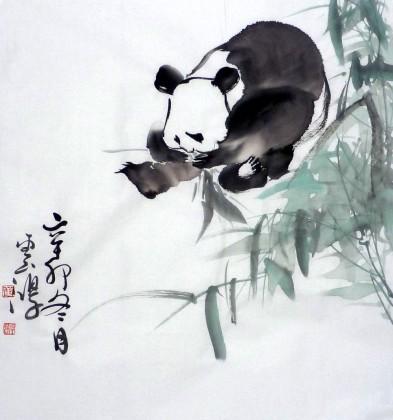 黄云鸿儿童房挂画《熊猫图》