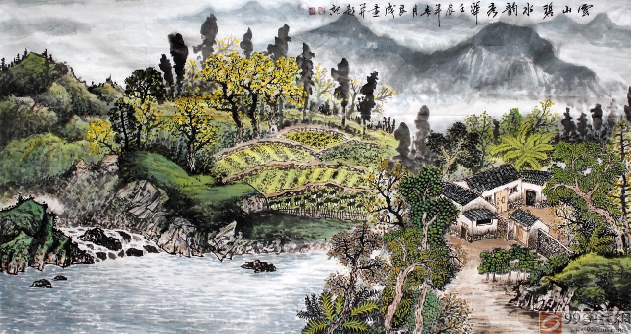 名家田园风景绘画图片
