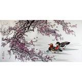 一级朝鲜画家李燮《鸳鸯图》