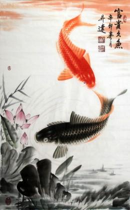 东方鱼圣周升达大三尺《双鱼图》