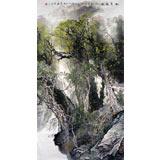 【已售】张立友六尺国画山水《山泉幽幽》