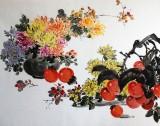 朝鲜一级画家郑哲《秋韵图》