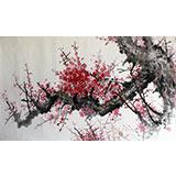 朝鲜一级画家金哲浩《梅花图》