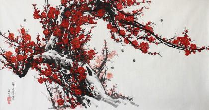 【已售】朝鲜一级画家李明哲《春》