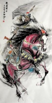 关公像 国画关公 武圣图 古代人物