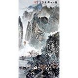 【已售】杨春三尺精品山水《漓江帆影图》