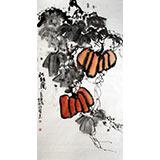 著名画家李明成三尺《秋韵图》