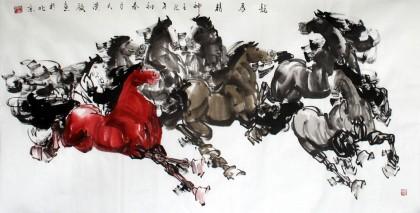 黄江四尺八骏图《龙马精神》