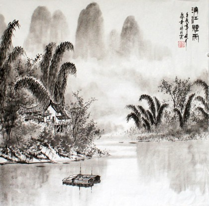桂林山水画作品欣赏