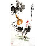 【已售】王宝钦三尺作品《大吉图》(询价)