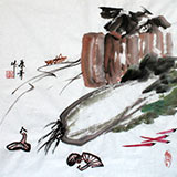 【已售】张春奇三尺斗方餐厅挂画徐悲鸿纪念馆艺术中心理事