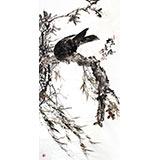 四川美协会员西蜀山人精品雄鹰图《雄风》