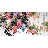 【已售】装饰四尺精品风水画《紫气东来》
