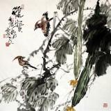 四川美协西蜀山人四尺写意丝瓜《秋实》