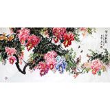 四尺精品风水紫藤国画《紫气东来》-3