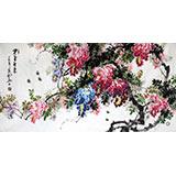 四尺精品风水紫藤国画《紫气东来》-2