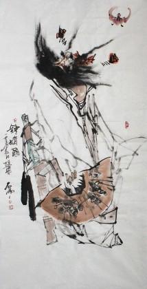 【已售】名家魏武双四尺精品《钟馗图》(询价)