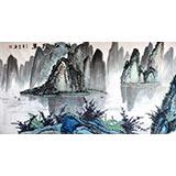 宁良成六尺桂林山水《漓江揽翠》
