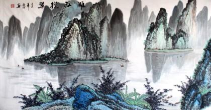 桂林山水画 - 写意山水画 - 99字画网