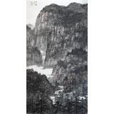 著名山水画家周武元六尺《空山新雨后》(已裱轴)
