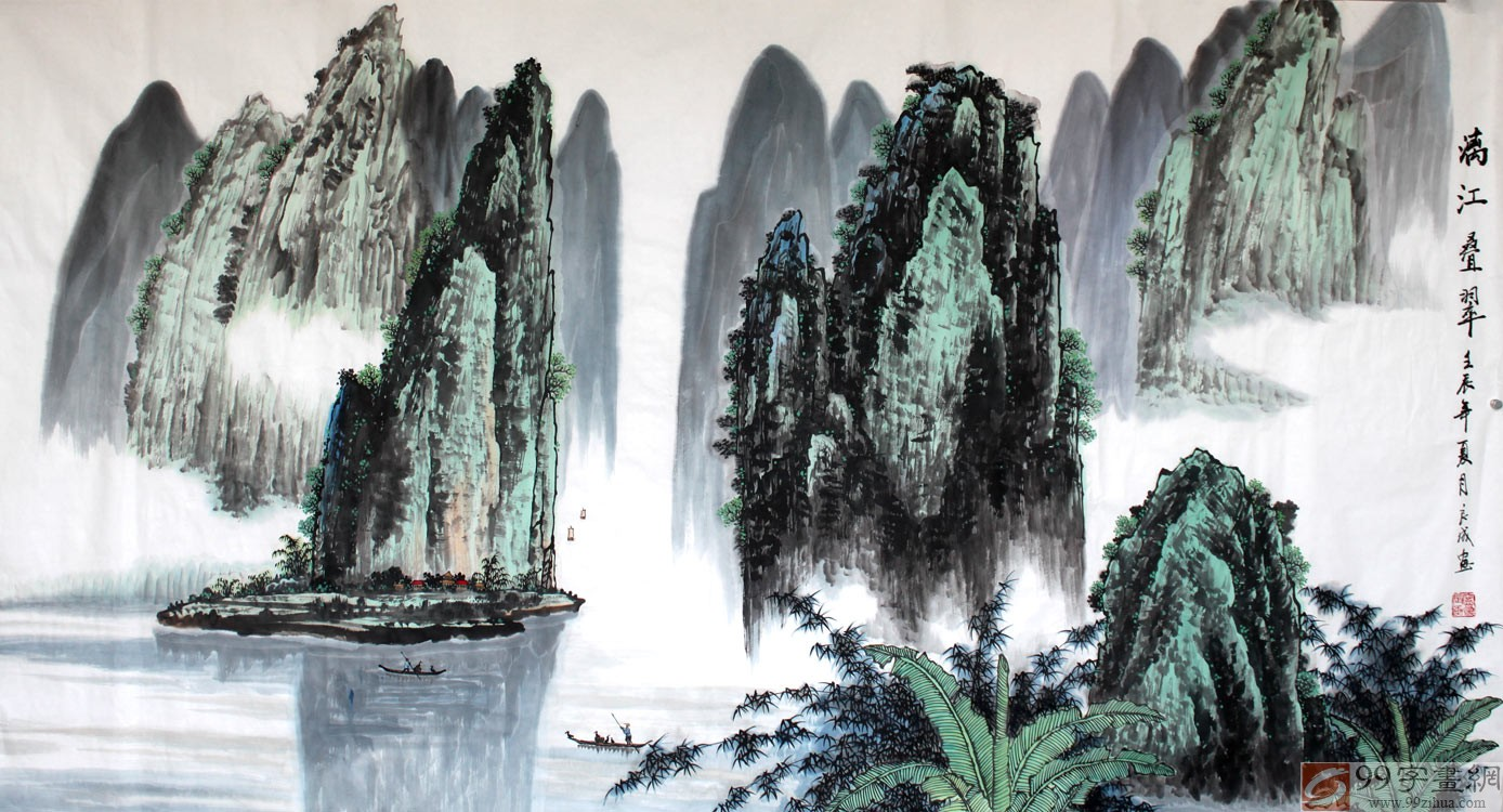 近年來,在老一輩漓江畫派的影響下,桂林山水畫有了新的發展,力作不斷