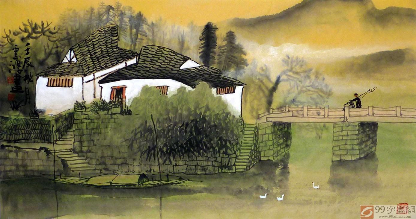 在广西美术界,黄云鸿是一位有着扎实绘画功底和文化素养的画家,这位生于桂林的画家对桂林山水拥有的深厚情感,让其一次次的拿起画笔展现其对家乡山水的热爱。在既其花鸟斗方小品画受到了99字画网众多藏家的广泛赞誉后,我们又大量收购了黄云鸿历年创作的山水画精品。黄云鸿将神秘而又美丽的桂林山水美景在细腻线条和精妙的构图中展现出来。画中对桂林山水相依的美景进行的个性表达,不仅让人感受着笔墨的韵味,也让人体现着感性表达下的家乡山水所具有的独特魅力,山山水水,情真意切!