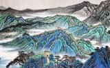 宁良成小八尺精品长城国画《东方巨龙》