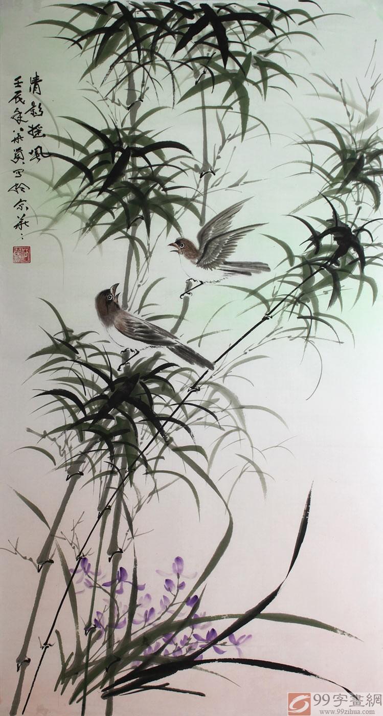 国画写意竹子 - 竹子画 - 99字画网