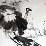 【已售】李立辰卧室装饰仕女图《荷香》