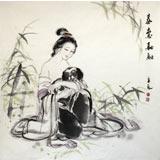 【已售】李立辰四尺斗方作品《春意浓浓》