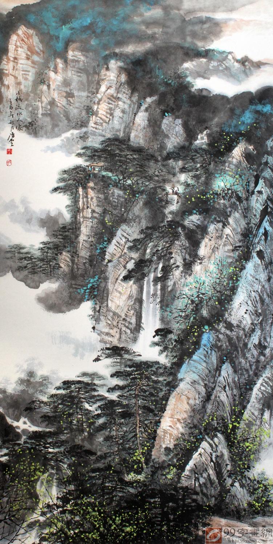 收藏天地 - 王凌云山水画:山水逸趣 诗意笔墨