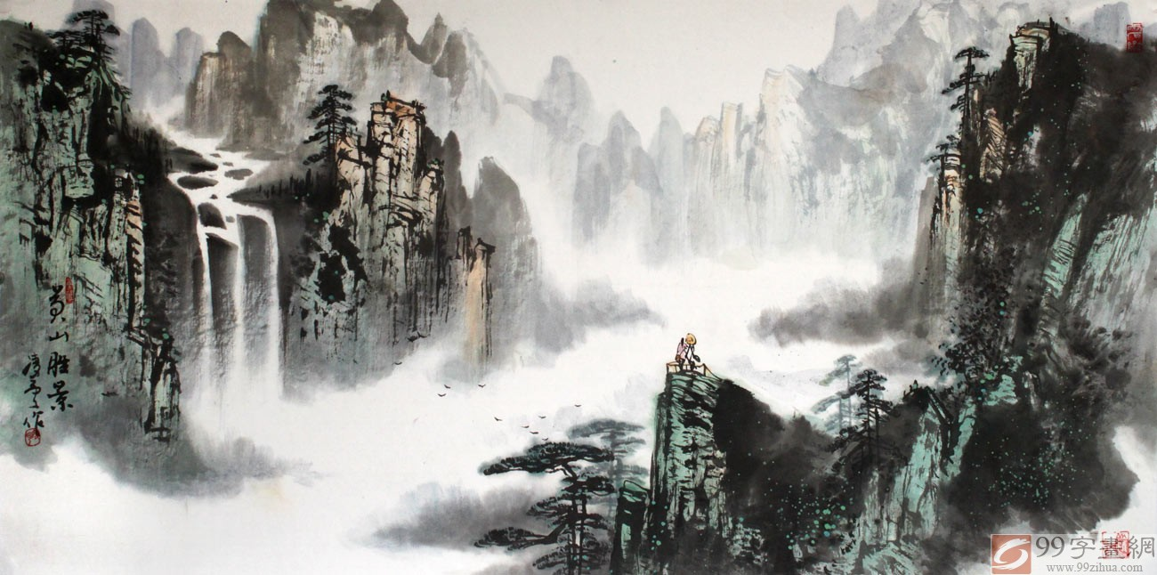 官方博客:著名山水画家王凌云先生应邀来访