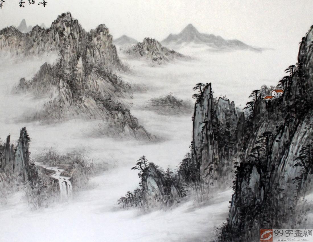中国传统剪纸图片 山水风景