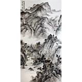 【已售】名家刘金河四尺山水作品《晴明无雨色入云》