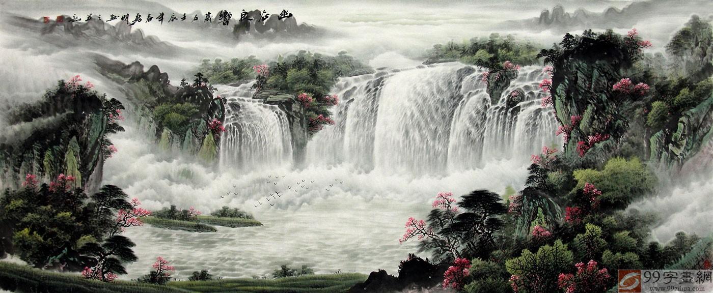 客厅写意国画山水 - 聚宝盆山水画