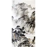 【已售】名家刘金河四尺山水画《绿水无弦万古音》