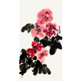 【已售】李明成三尺写意牡丹《富贵图》