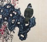 著名画家吕正明四尺三开《紫藤》