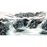【已售】河南美协徐来选四尺山水画《林壑云泉图》
