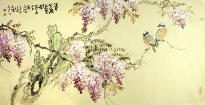 5,朝鲜一级画家徐云哲作品《故乡的春天》